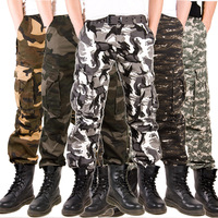 Autumn and winter Camouflage trousers multi-pocket plus size loose outdoor hiking pants harem pants overalls trousers