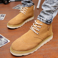 Winter martin boots male shoes elevator skateboarding shoes the trend of nubuck leather high-top shoes casual fashion leather