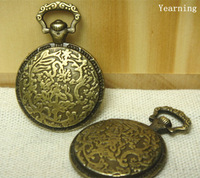 Yearning Vintage Bronze Round Base Pocket Watch Cameo Shell Pendant Charm Setting Inner 19mm Findings