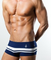 Free Shipping wholesale 5pcs/lot Japan Brand casual men stripe boxer shorts sexy men panties
