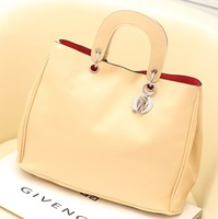 2013 bag brief elegant women's handbag fashion solid color one shoulder cross-body handbag