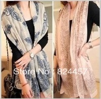 NEW ARRIVAL! Wholesale 2013 scarfs fashion style designer Thin Section the Silk Floss Women Scarf Shawl Free shipping
