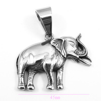 Wholesale Lot  Men's And Boy's Stainless Steel Thai Elephant Pendant Necklace