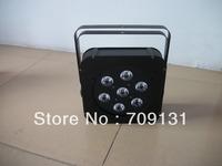 Free Shipping 4units packing 4/8chs 10w7pcs quad-led flat par light