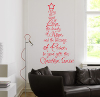 Christmas word quote wall stickers, Removable vinyl DIY home decor/ wall art