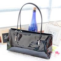 2014 fashion Hot Summer handbag women's handbags patent PU leather small bags candy color female women shoulder bags