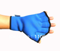 Swimming paddles swimming stroke hand web diving stock hand web diving hand web diving gloves men and women Black, blue S-866