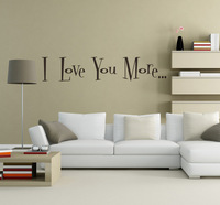 Love you word quote wall stickers, Removable vinyl DIY home decor/ wall art