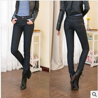 2013 Winter flecce Jeans thicken warm pencil pants slim pants trousers free shipping XM-029
