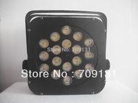 4units Free Shipping  10W18pcs quad-color RGBW led flat par stage light