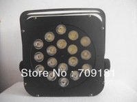Free Shipping 10W18pcs quad-color flat led par stage light