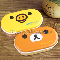 Free shipping Hot sell heat preservation lunch box Rilakkuma Bento Box 16.5*8 cm two design children lunch box 2 pcs\lot