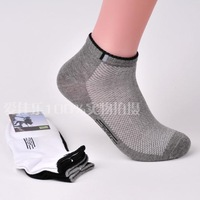 Male sock slippers male summer breathable mesh socks outside 100% sport cotton sock shallow mouth male short socks