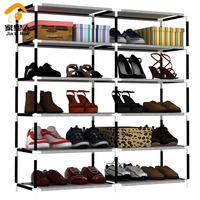 Simple double shoe hanger combination storage rack cloth cover