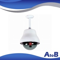 Free shipping,ATOB AB-CA-09A outdoor dome dummy security camera,imitation camera, ABS/Iron housing,Red LED,