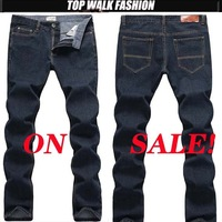 2013 New Fashion Men's Clothing Famous Brand Jeans Men Long Pants Slim Fit Light Blue Jeans Male Big Size Free Shipping