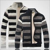 70% Wool Cotton Men Thick Sweaters Winter Long Sleeve Casual Fashion Man Sweater Coats & Jackets Plus size M L XL XXL