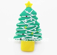 Hot selling  8GB 16GB 32GB 64GB Novelty Christmas trees U disk  usb flash drive pen drive memory stick 10pcs/lot Free shipping