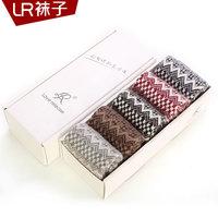 Women's wool socks thickening thermal rabbit wool socks lr knee-high female sock wave all-match gift box set socks