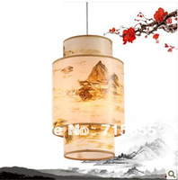 New Chinese chandelier with antique lamps imitation sheepskin lamp Restaurant lights restaurant aisle lighting