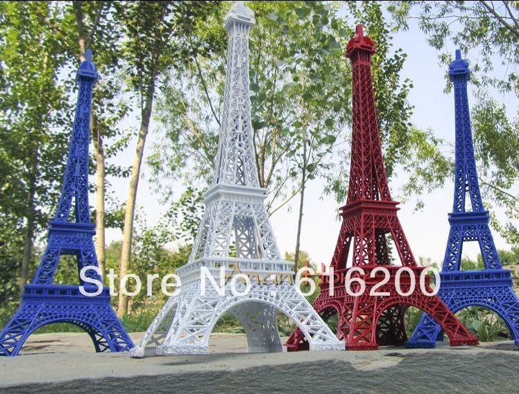 Retro paris eiffel tower colorful metallic model home for Parisian christmas decorations home