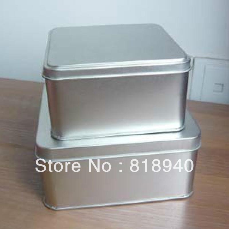 2 X Mini Metal Storage Container Box Case Square Makeup Iron Craft Holder Small(China (Mainland))