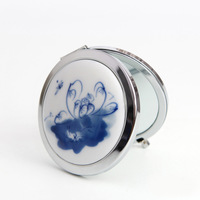 free shipping Blue and white makeup mirror jewelry box national trend decoration ceramic jewelry