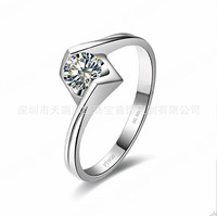 Angel kiss,0.6CT SONA Diamond Rings,Engagement Rings,18k Gold plated Rings ,Female Rings ,Free shipping,Free Lettering