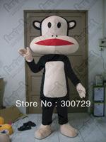 POLE STAR MASCOT COSTUMES custom big head monkey mascot costume funny monkey costumes