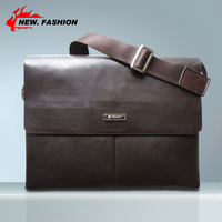 2014 New Arrived free shipping genuine leather men bag fashion men messenger bag bussiness bag brown A34