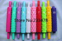 Free Shipping 2013 NEW 10pcs/lot Fondant Rolling pin Cake Decoration,sugarcraft Print press mold,embossing rolling pin