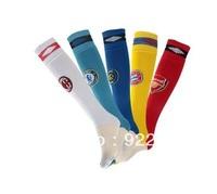 New arrival!Free shipping original brand football fan socks/stockings with big european clubs' team logo,football fan souenirs