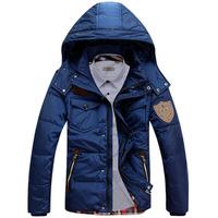free shipping/ 2013 Winter New fashion men's winter down coat jacket outwear Armygreen,Black,Khaki,Blue M, L XL XXL 3XL ,3518