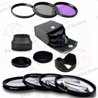 67MM UV CPL FLD Filter Kit + Lens Hood + Cap +  MACRO CLOSE UP LENS SET For NIKON 18-105mm 70-300mm