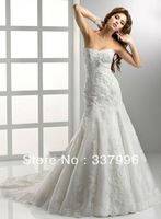 Custom-made 100% Guaranatee Wholesale WD-SU076 Chiffon Taffeta Satin Wedding dresses/Wedding gowns