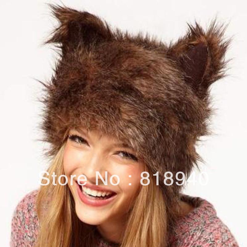 Fur Hats From Russia Women Faux Fur Hat Cap Cat Ear