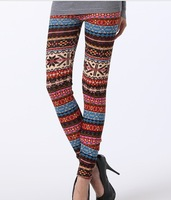 Cashmere Women Long Pants Floral Leggings New Fashion 2013 Plush Warm Leggings D08