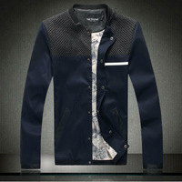 2013 autumn british style special patchwork plus size plus size male jacket outerwear