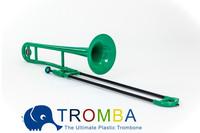 Spring Gift, Bb Tenor Plastic Trombone -GREEN