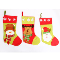 Min.order is $15 (Mix Order) New Year quality Large snowman christmas socks christmas gift socks christmas tree child gift bags