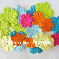 Craft Paper Flowers for Scrapbooking Paper Flowers Scrapbooking Decoration Mixed Color 48pcs/ lot Free Shipping