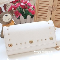 Hello Kitty Long Wallet Size: about 19.5cm*11cm*3.5cm ,chains :about 37cm) Material:PU white color