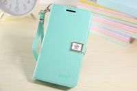 Fashion Slim Ailun Leather Flip Cover Shell Case With Chain For Samsung Galaxy S2 SII I9100