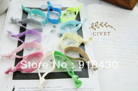 10pcs/lot Fashion Solid Color Hair Tie, Hair Elastic