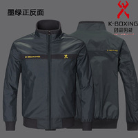K-boxing men's clothing jacket 2013 autumn male autumn and winter outerwear business casual autumn top