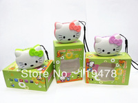 Mini Speaker Portable Micro SD/TF Music MP3 Player USB Disk cat speaker with FM Radio kitty style 30pcs  Free Shipping Wholesale