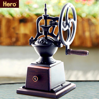 Hero vintage hand coffee grinding machine coffee bean grinding machine steel wheel manual coffee gristmill xs-7