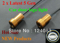Hot sale Gold 5 Gen LED car door courtesy Shadow Lights lamps laser projector logo light for Nissan White color