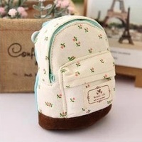 2013 fresh mini school bag canvas coin purse cute wallet female key wallet