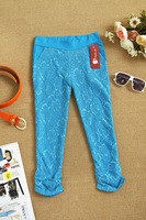 European new stretch lace leggings women's clothing summer fashion casual pant